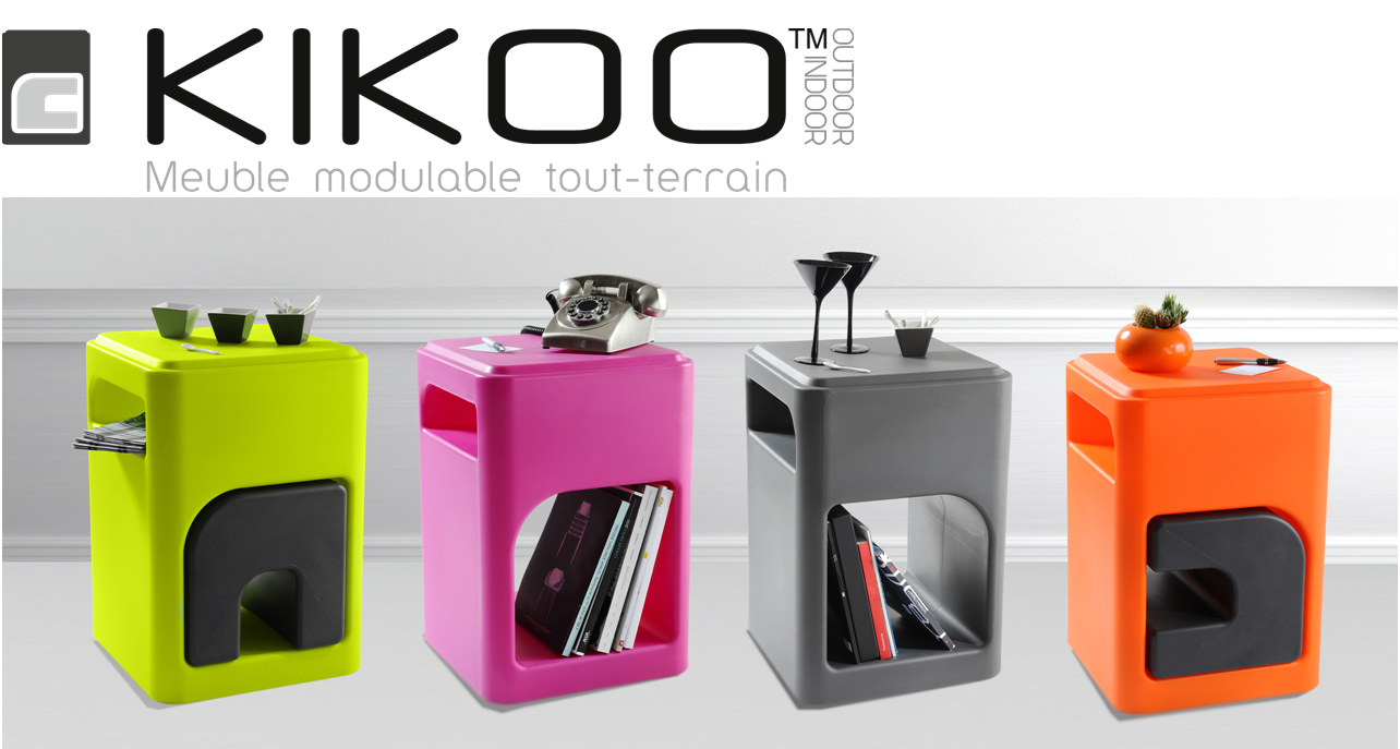 Avec kikoo et air concept l t sera pratique et chic for Table de jardin coloree
