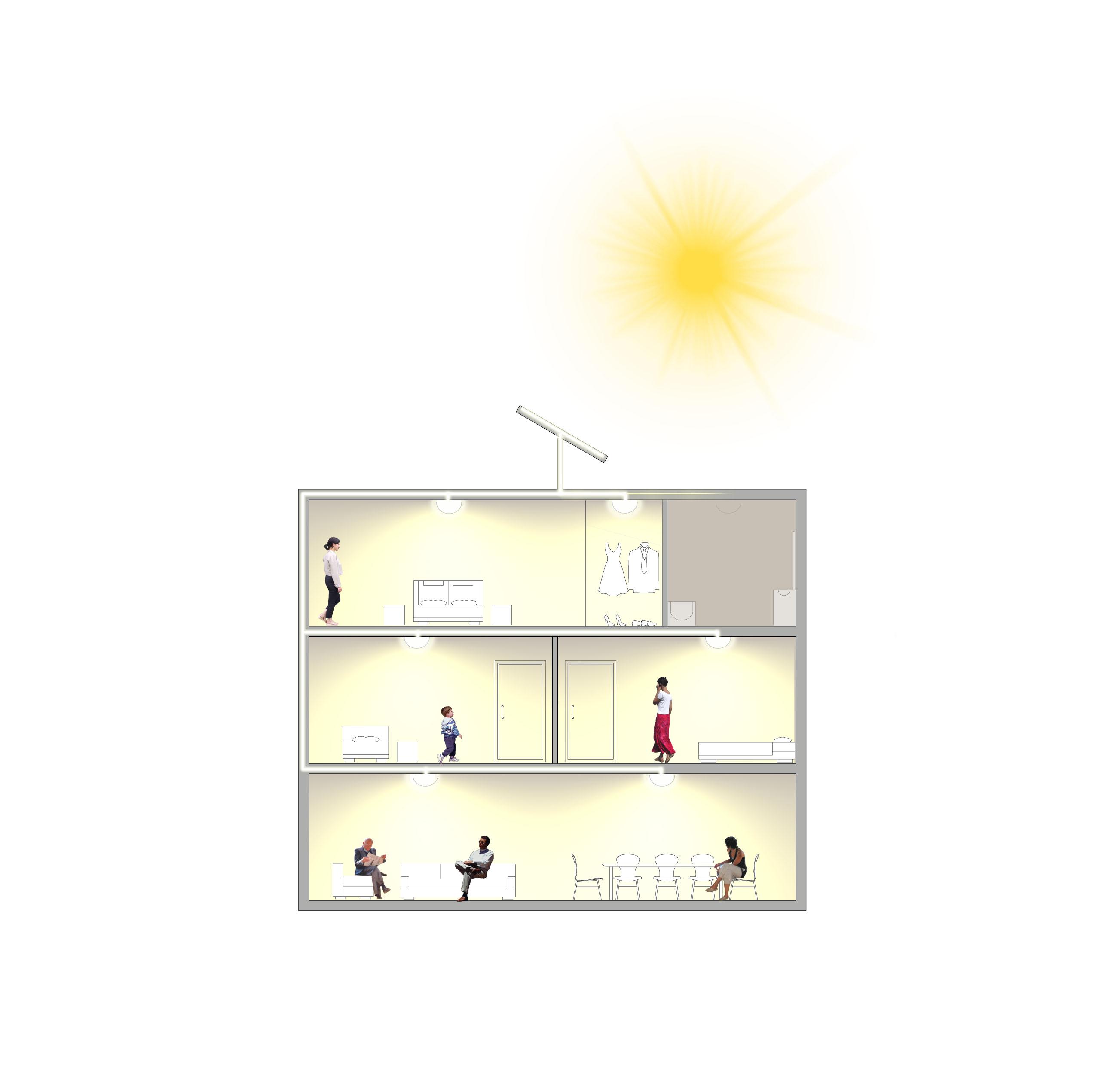 transformation de la lumi re du soleil en clairage int rieur echy pr pare son 1er prototype. Black Bedroom Furniture Sets. Home Design Ideas