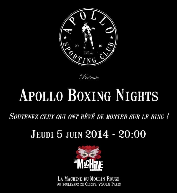 Affiche Apollo Boxing Nights
