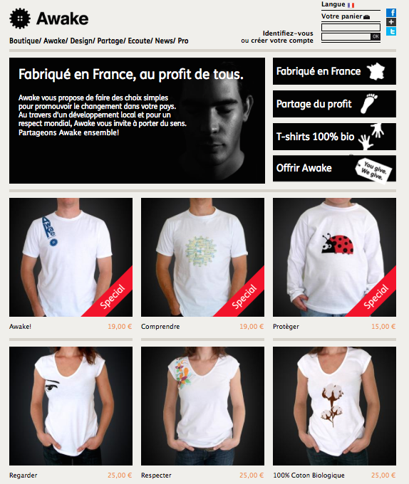 Page Web Awakeshop.fr