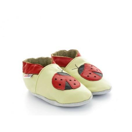 chaussons-bebe-en-cuir-souple-cocinelle-rouge
