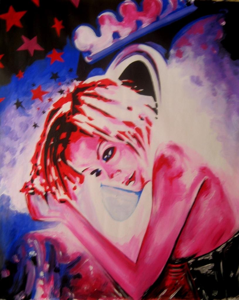 La Rêveuse - Acrylique sur toile - Dimensions : 94 x 80 cm