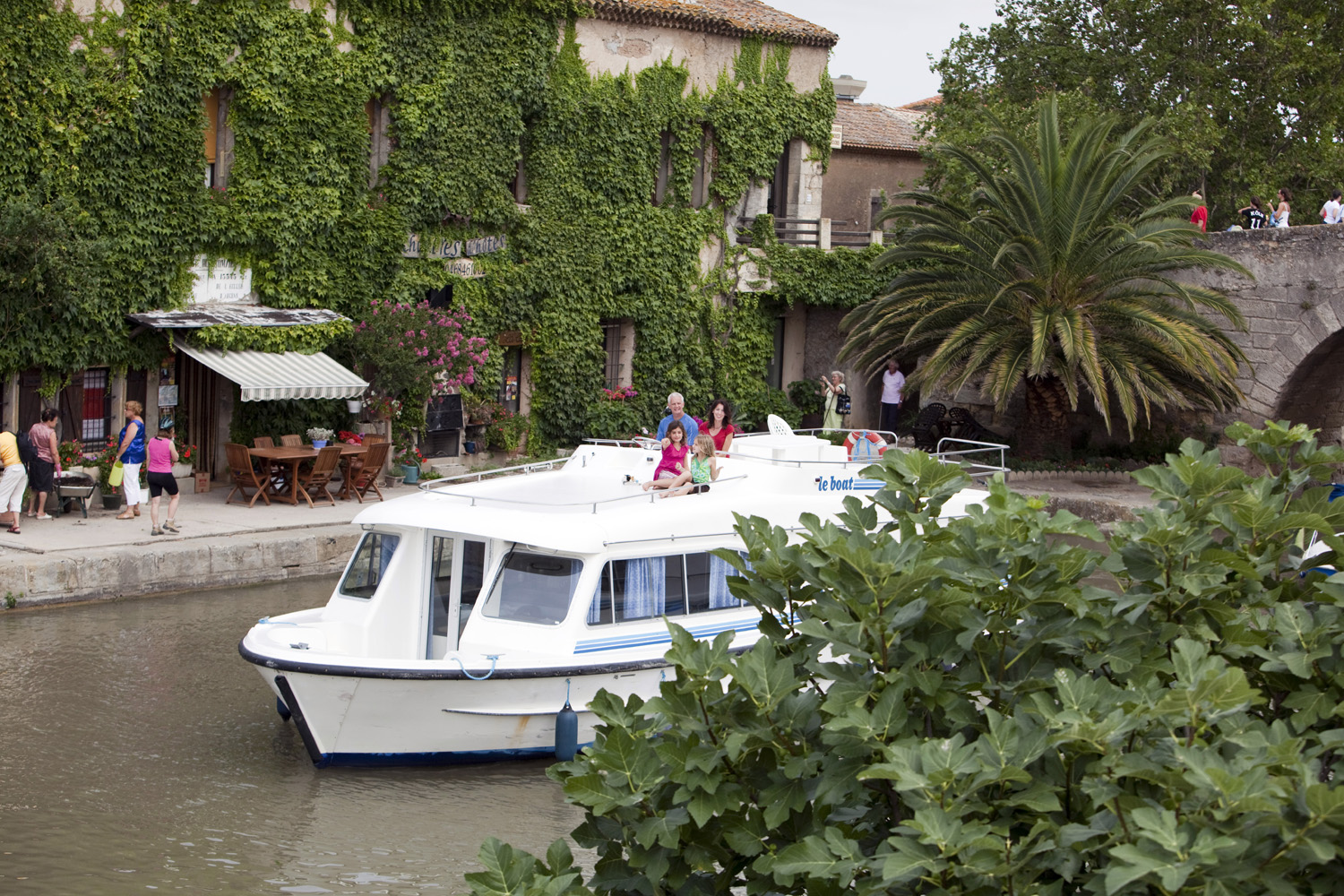Scenes on the Canal Du Midi in and around Se Somail France