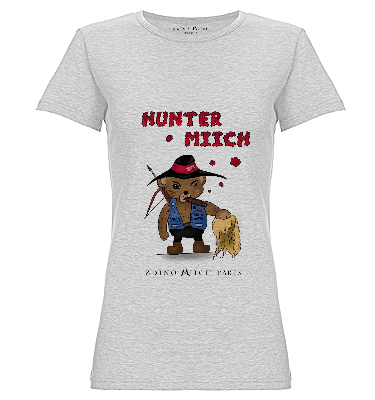 8c832cf206f75 T-shirt woman blanc-heather-huntermiich