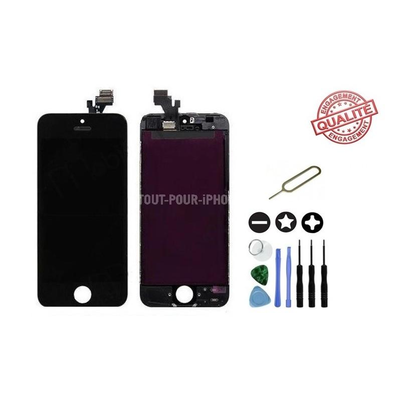vitre-tactile-iphone-5-avec-ecran-lcd-sur-chassis-outils