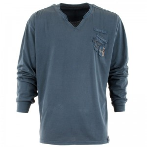 t-shirt-manches-longues-bleu-col-echancre