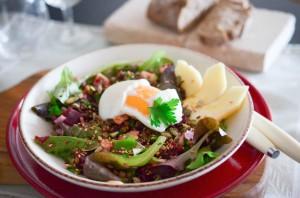 Cook'n Box - Salade de lentilles et son oeuf coulant