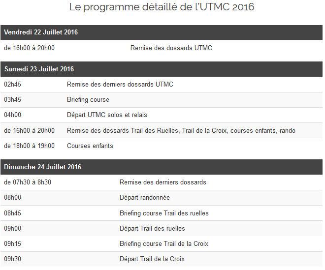 UTMC programme