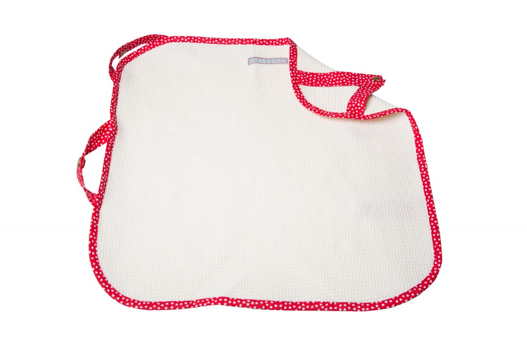 Accessoires pour porte bébé: Lange rouge à coeur