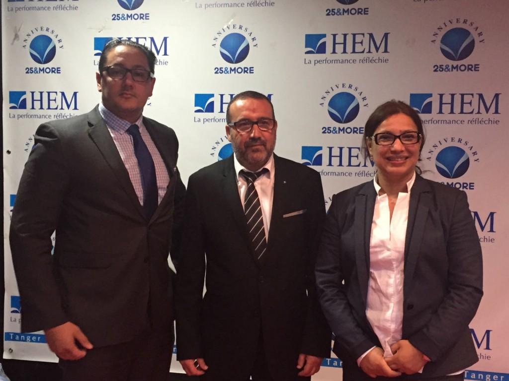 Khalid Bouksib + Maire de Tanger + Directrice HEM