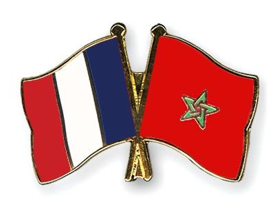 drapeaux France Maroc