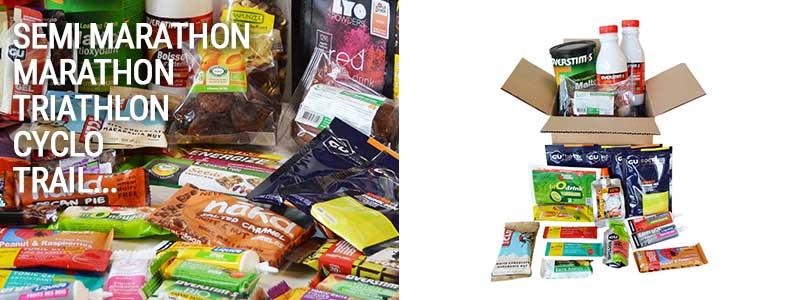 Packs, articles avant, pendant ou après l'effort sont accessibles très facilement sur www.lyophilise.fr