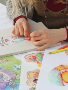scrapbooking-décoration-livre-dessins-illustration-crayons