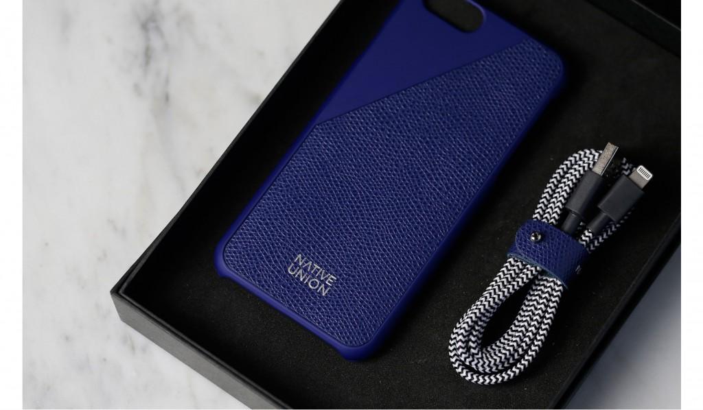 coffret-coque-iphone-6-6s-cuir-cable-de-charge-bleu