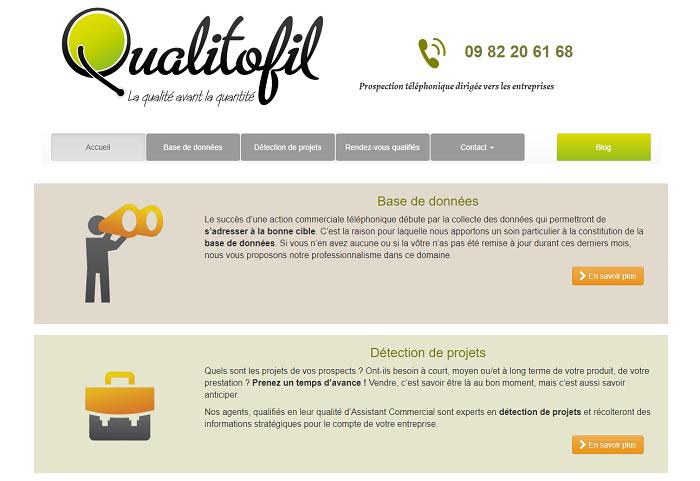 Qualitofil, un site web créé par Ad'Elite