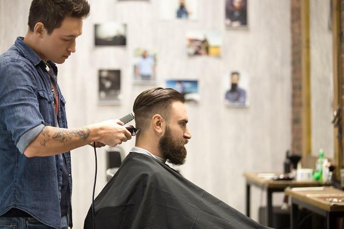 Client in barbershop