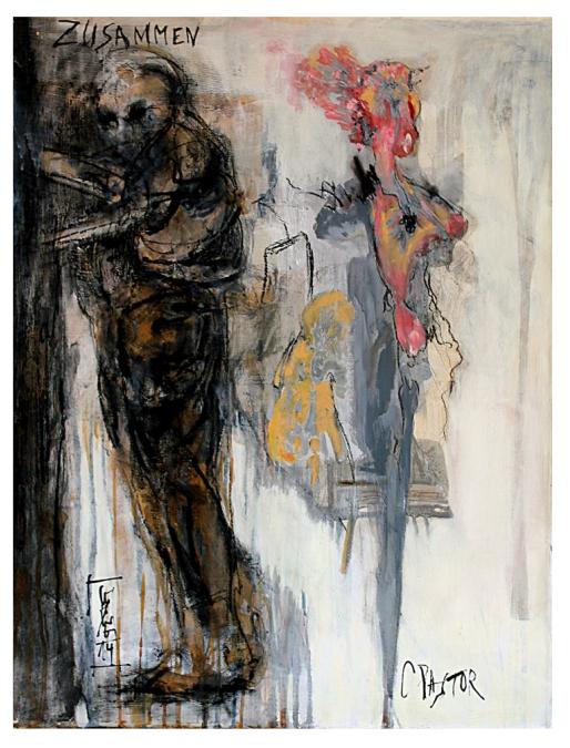 Peinture métisse : Christine PASTOR et Gunther LUDWIG (Barsinghausen, Allemagne)