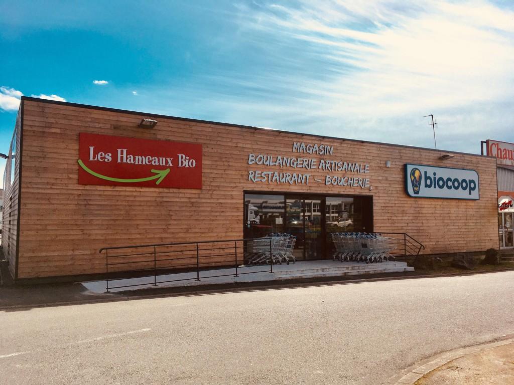 Fascade magasin Les Hameaux Bio Nantes