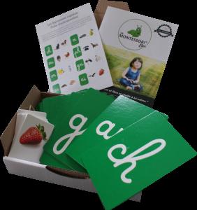 MaMontessoriBox - Edition 9 - Digrammes rugueux Montessori