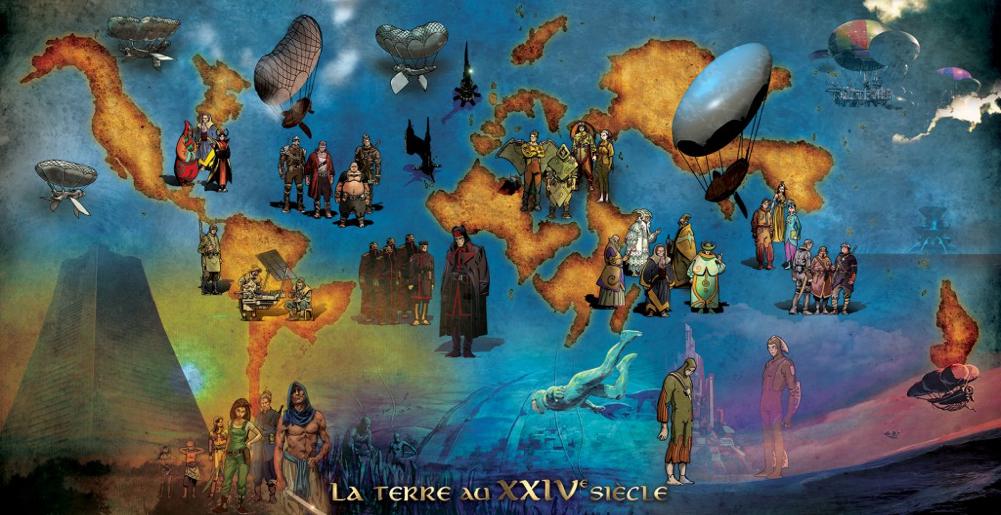 La Terre au XXIVe siècle, après les grandes catastrophes de 2199