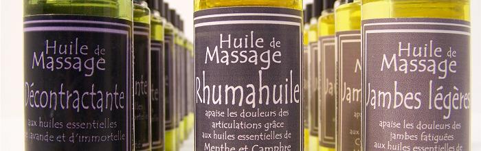 huiles massage