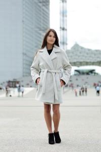 Manteau Caldo avoine porté