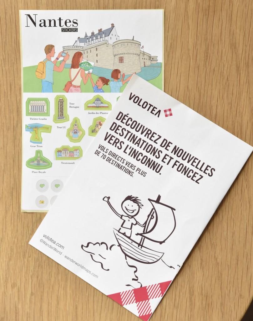 Nantes carnet de voyage accueil enfants avion