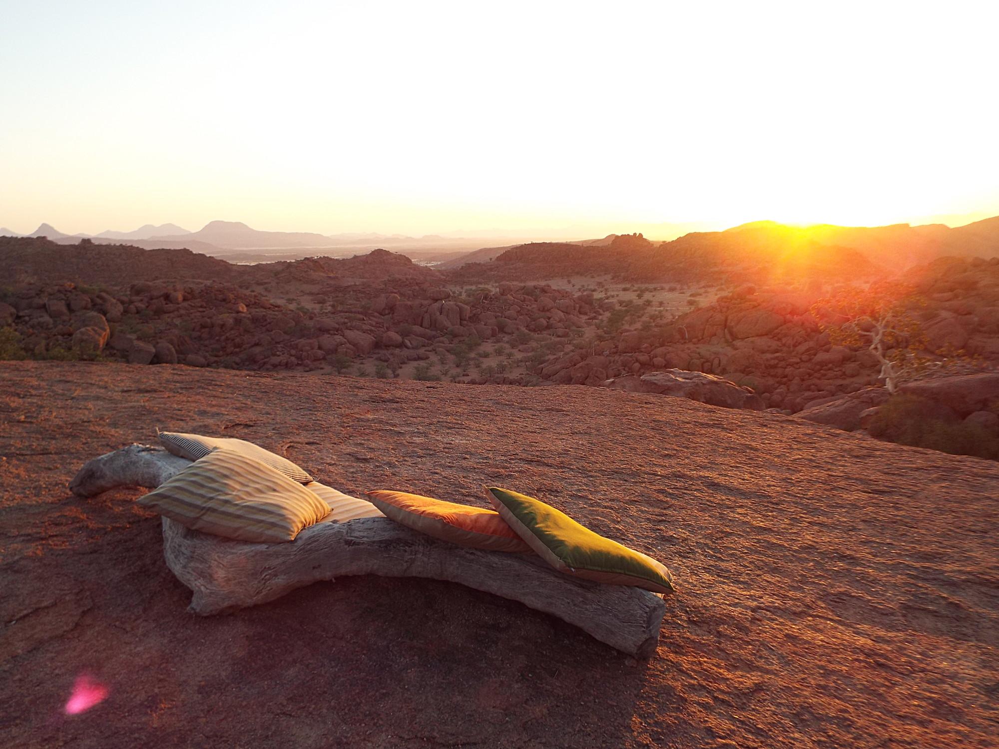 Coucher de soleil dans le Damaraland