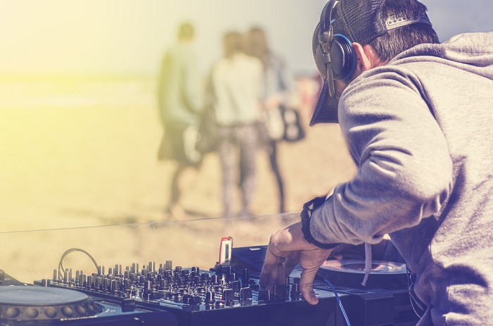 DJ plage copie