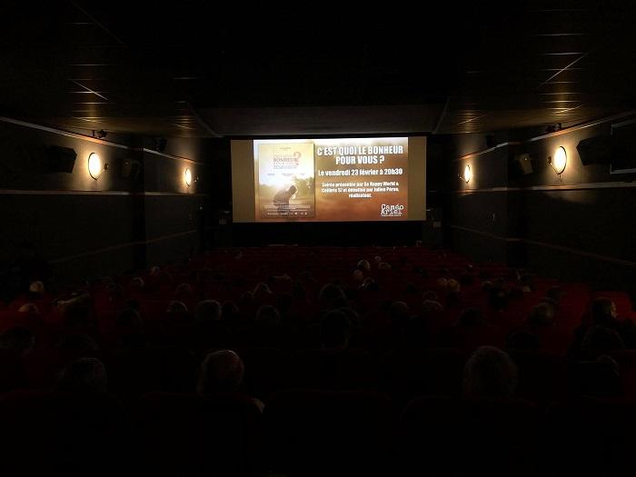 Séance de projection dans un cinéma de Montpellier