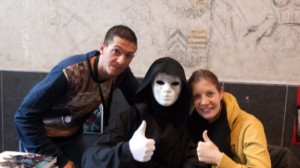Mr Anonyme avec Steve et Gwen (sa voix)