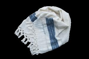 écharpe coton nouée