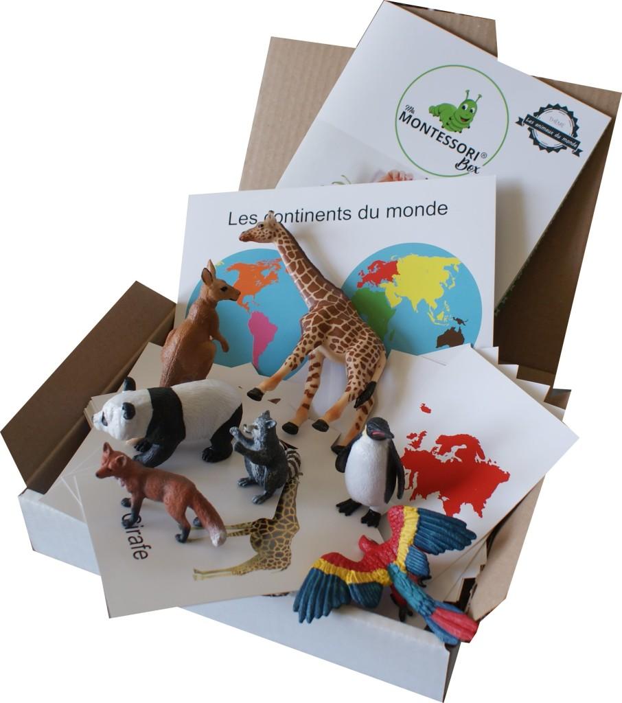 MaMontessoriBox - Edition 25 - Animaux du monde Montessori-min