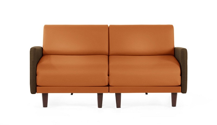 canape-convertible-lit-2-ou-3-places-pacha-duo-160-cm-accoudoir-large-tissu-cuir copie