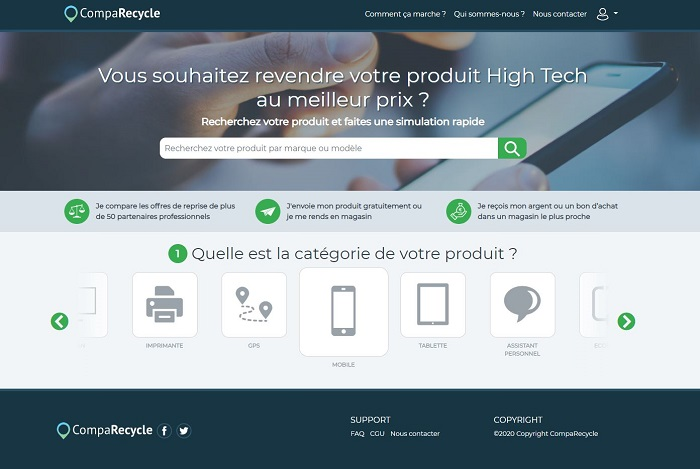 page accueil CompaRecycle