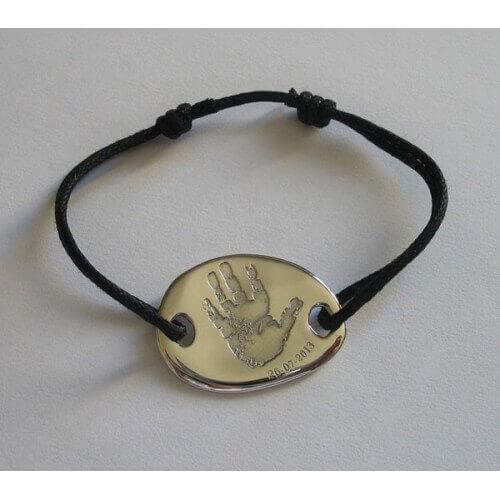 les-empreintes-bracelet-cordon-gros-galet-rond-argent