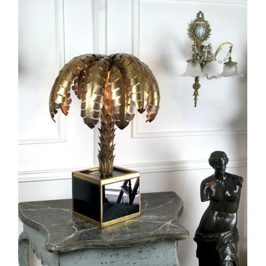 lampe-palmier-de-table-en-metal-dore-socle-en-plaques-de-verre-style-annee-70