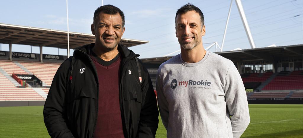 Émile Ntamack, Responsable de la Formation du Stade Toulousain, et Eric Anselme, Fondateur et CEO de myRookie.