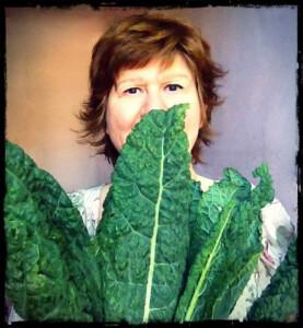 avec les feuilles de choux