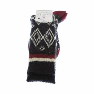 chaussette-en-laine-tres-chaude-motif-jacquard