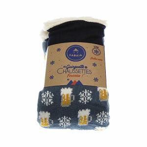 chaussettes-chaussons-fourrees-motif-bieres-et-flocons-antiderapant