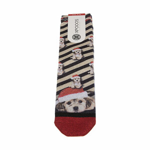 chaussettes-mi-hautes-rayees-motifs-chiens-de-noel