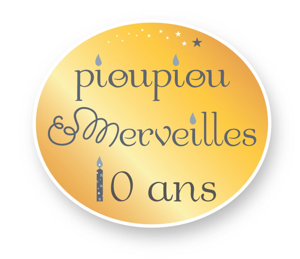 Logo P&M 10 ans - doré