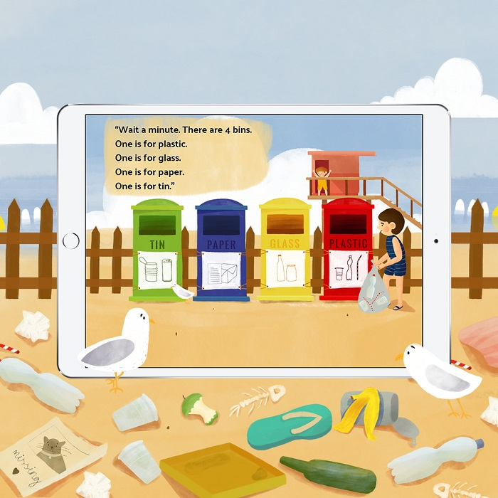bookr-class-english-learning-app-recycle-beach